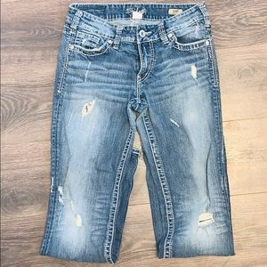 🌟Silver boot cut jeans